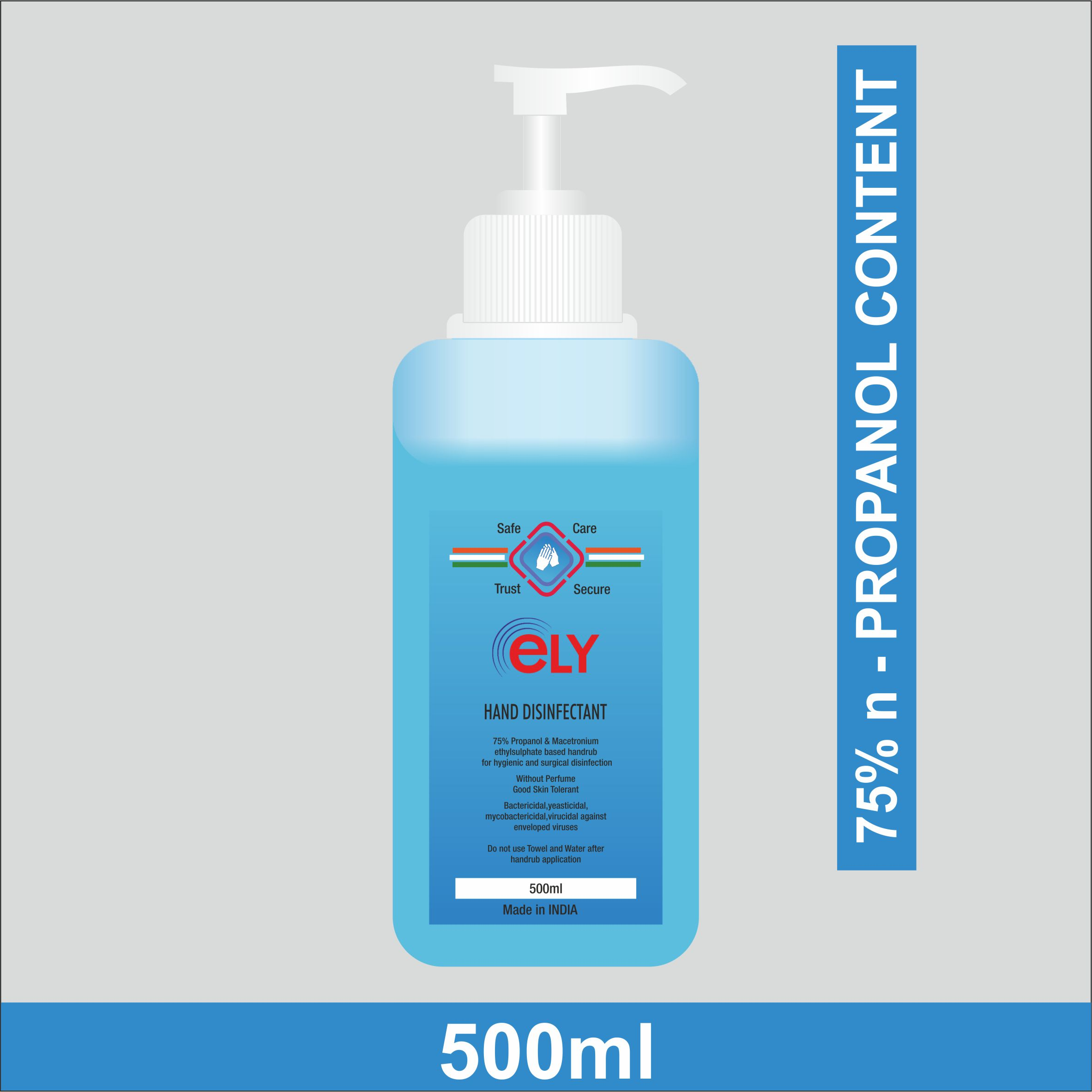 eLY Hand disinfectant 75% n- Propanol 500ml